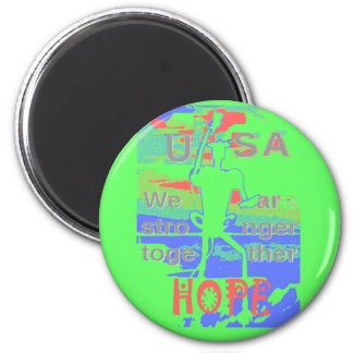 Powerful ECO USA Hillary Hope We Are Stronger Toge 6 Cm Round Magnet