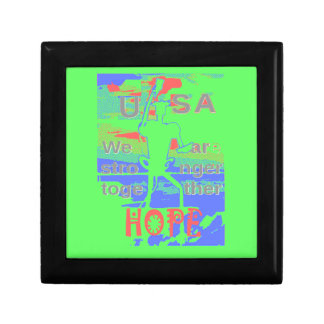 Powerful ECO USA Hillary Hope We Are Stronger Toge Small Square Gift Box