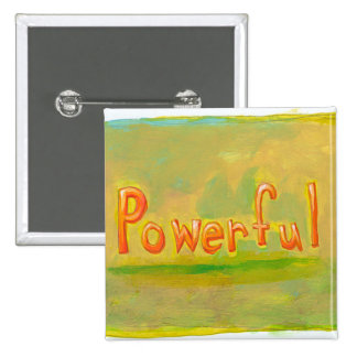 Powerful fun word painting art motivational button