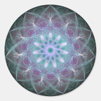 Powerful High Blue Energy Mandala Sticker