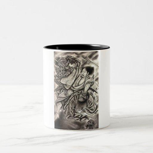 powerful japanese demon mug