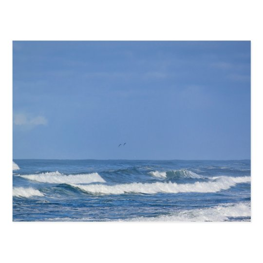 Powerful Pacific Ocean Waves IV Postcard