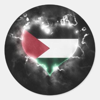 Powerful Palestine Round Sticker