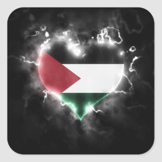 Powerful Palestine Square Sticker