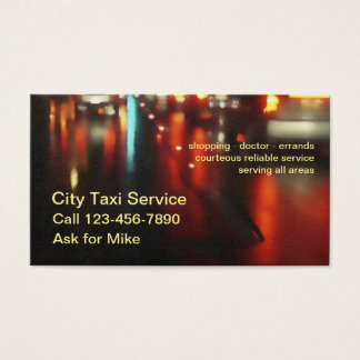 Powerful Simple Taxi Service Business Card