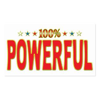 Powerful Star Tag Business Card