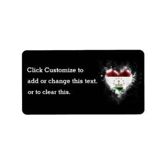 Powerful Tajikistan Address Label