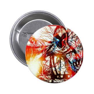 Powerful Wizard 6 Cm Round Badge
