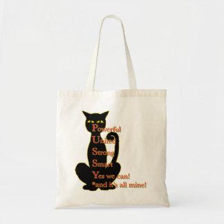 Powerful Woman cat design Tote Bag