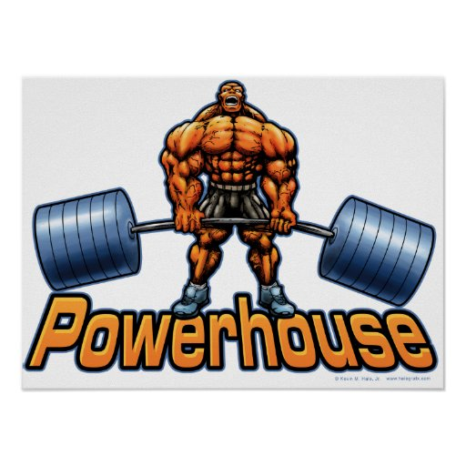 Powerhouse Deadlift Poster