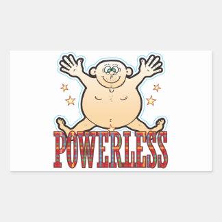Powerless Fat Man Rectangular Sticker