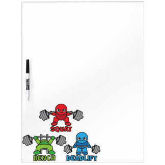 Powerlifting Kawaii - Squat, Bench Press, Deadlift Dry Erase Board