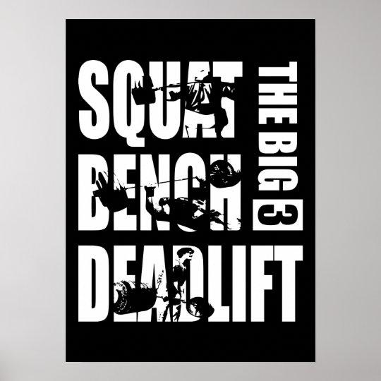 Powerlifting - Squat, Bench, Deadlift Poster