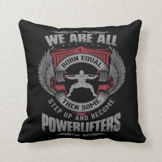 Powerlifting - STEP UP - Gym Workout Motivational Throw Cushion