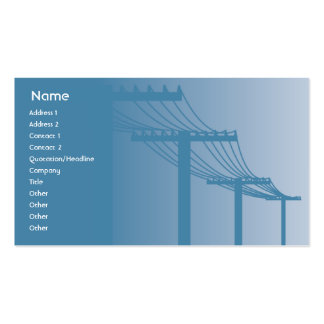 Powerlines - Business Business Card Template