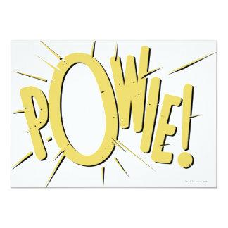 POWIE! 13 CM X 18 CM INVITATION CARD