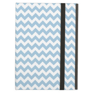 Powis iCase iPad Case, Blue and White Chevrons Case For iPad Air