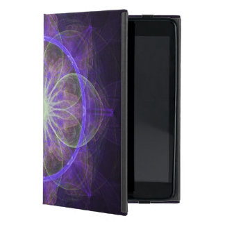 Powis iCase iPad Case fractal art black and purple