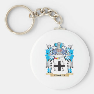 Powles Coat of Arms - Family Crest Basic Round Button Key Ring