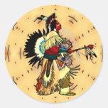 PowWow NAHM Sticker Round Sticker