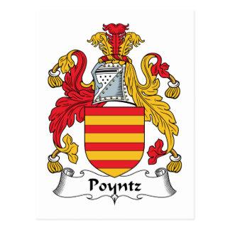 Poyntz Family Crest Postcard