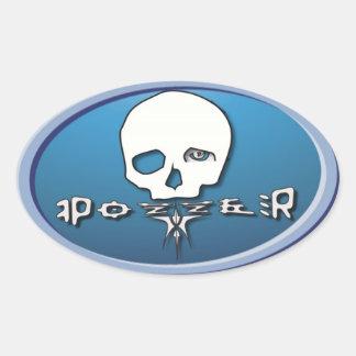 Pozzer light blue sticker