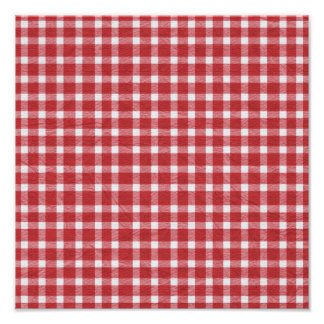 pp5 RED WHITE COUNTRY CHECKERED PATTERN SQUARES TE Photograph