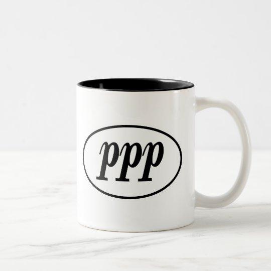PPP Oval Two-Tone Coffee Mug