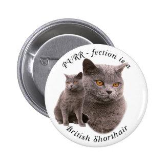 PPURR-fection British shorthair Blue 6 Cm Round Badge
