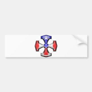 PR Flag Iron Cross Bumper Sticker