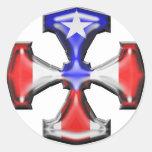 PR Flag Iron Cross Sticker