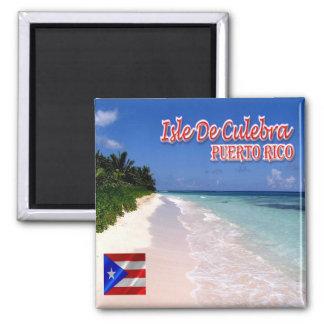 PR - Puerto Rico-Isle De Culebra-Playa de Flamenco Square Magnet