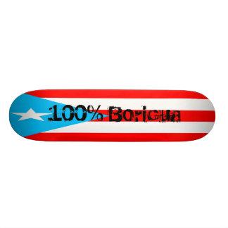 PR skateboard, 100% Boricua 21.3 Cm Mini Skateboard Deck