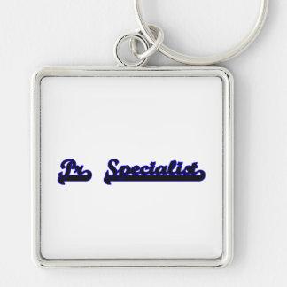 Pr Specialist Classic Job Design Silver-Colored Square Key Ring