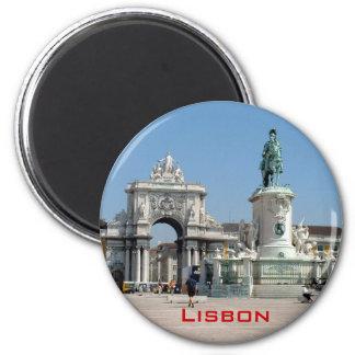 Praca do Comercio 6 Cm Round Magnet