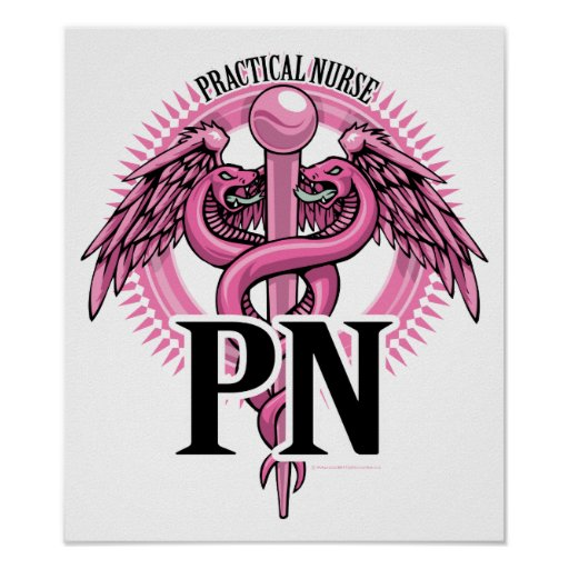 Practical Nurse Caduceus Print