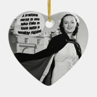 PRACTICAL NURSE FALLS IN LOVE W/ WEALTHY PATIENT CHRISTMAS ORNAMENT