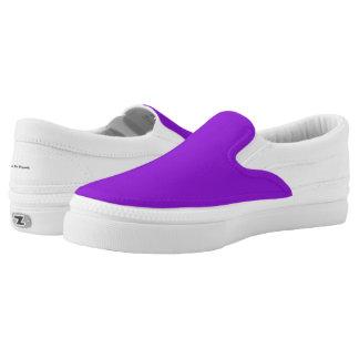 Practical Solution- Purple Slip On Shoes