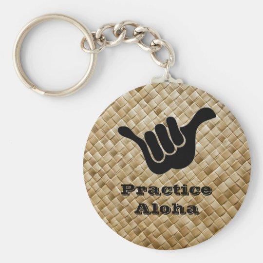 Practice Aloha Basic Round Button Key Ring