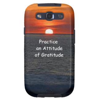 Practice an Attitude of Gratitude Galaxy S3 Cases