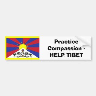 Practice Compassion - HELP TIBET Bumper Sticker