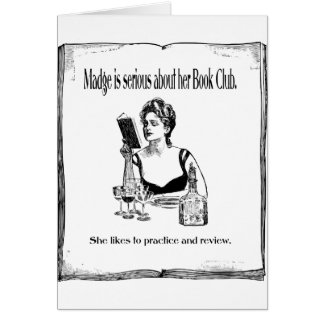 Practice For Book Club Vintage Design Greeting Card