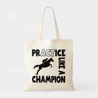 PRACTICE LIKE A CHAMPION BUDGET TOTE BAG