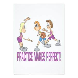 Practice Makes Perfect 13 Cm X 18 Cm Invitation Card