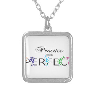 Practice makes Perfect Silver Plated Necklace