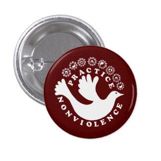 Practice Nonviolence 3 Cm Round Badge