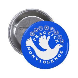 Practice Nonviolence 6 Cm Round Badge