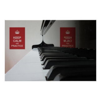 Practice Piano Poster