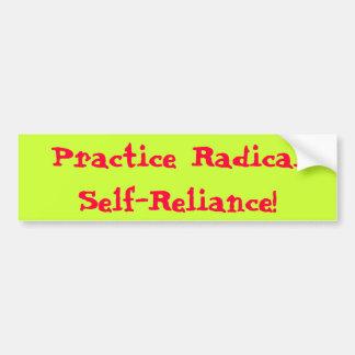 Practice Radical Self-Reliance Bumper Stickers