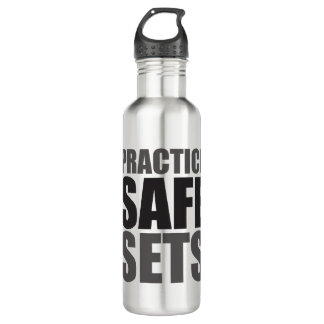 Practice Safe Sets - Lifting Gym Meme 710 Ml Water Bottle
